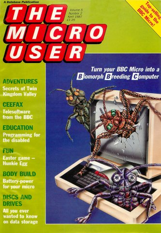 The Micro User Vol.05 No.02 (April 1987)