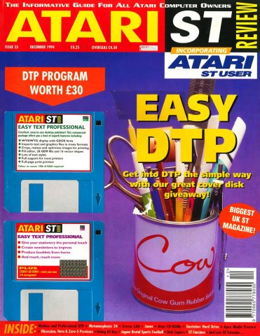 Atari ST Review Issue 33 (December 1994)