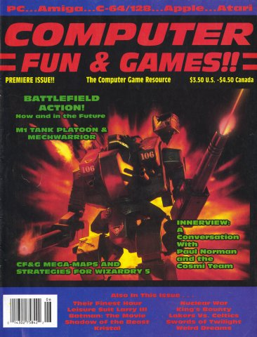 Computer Fun & Games!! Issue 01 (June 1990)