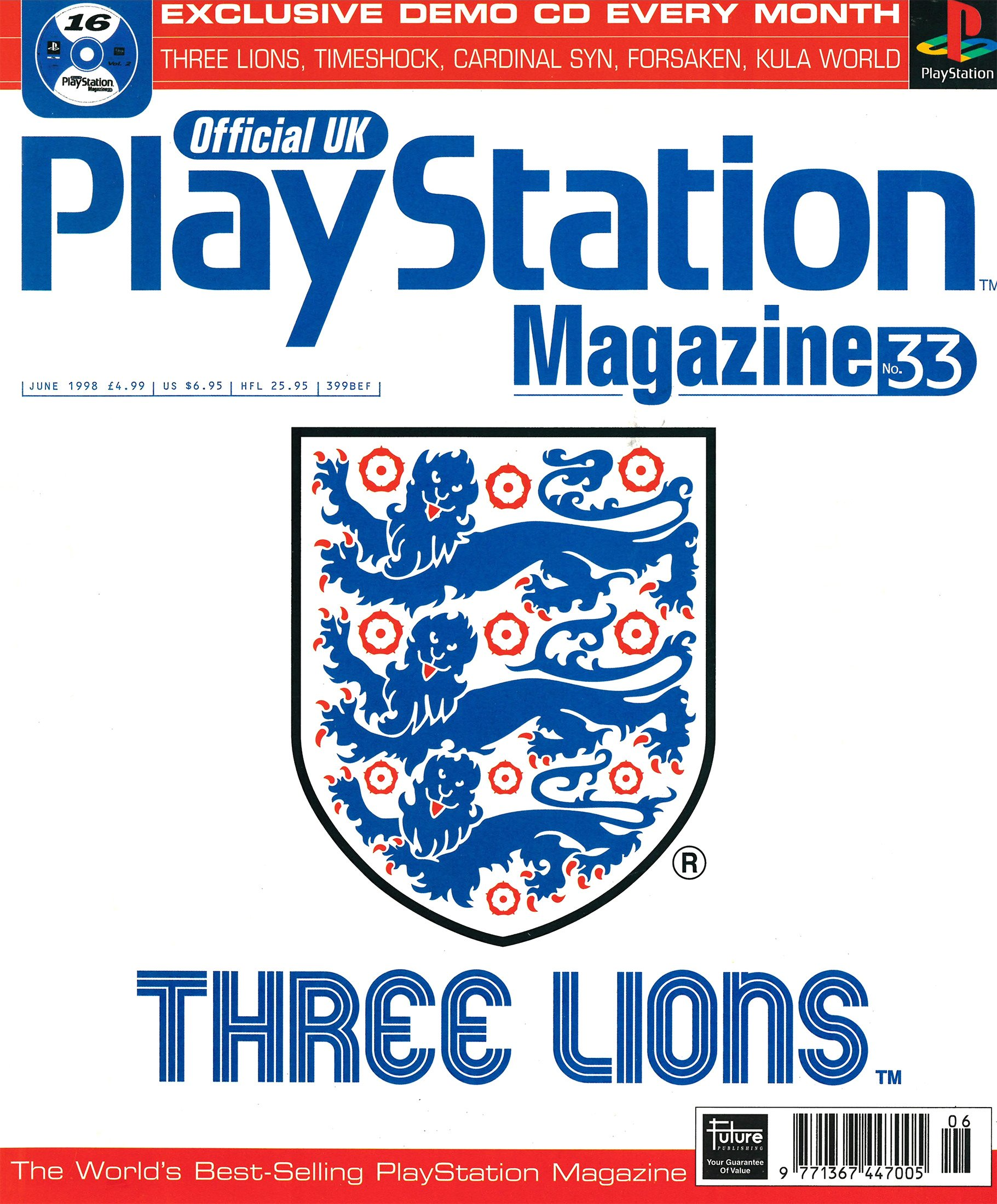 Official UK PlayStation Magazine Issue 033 (June 1998)