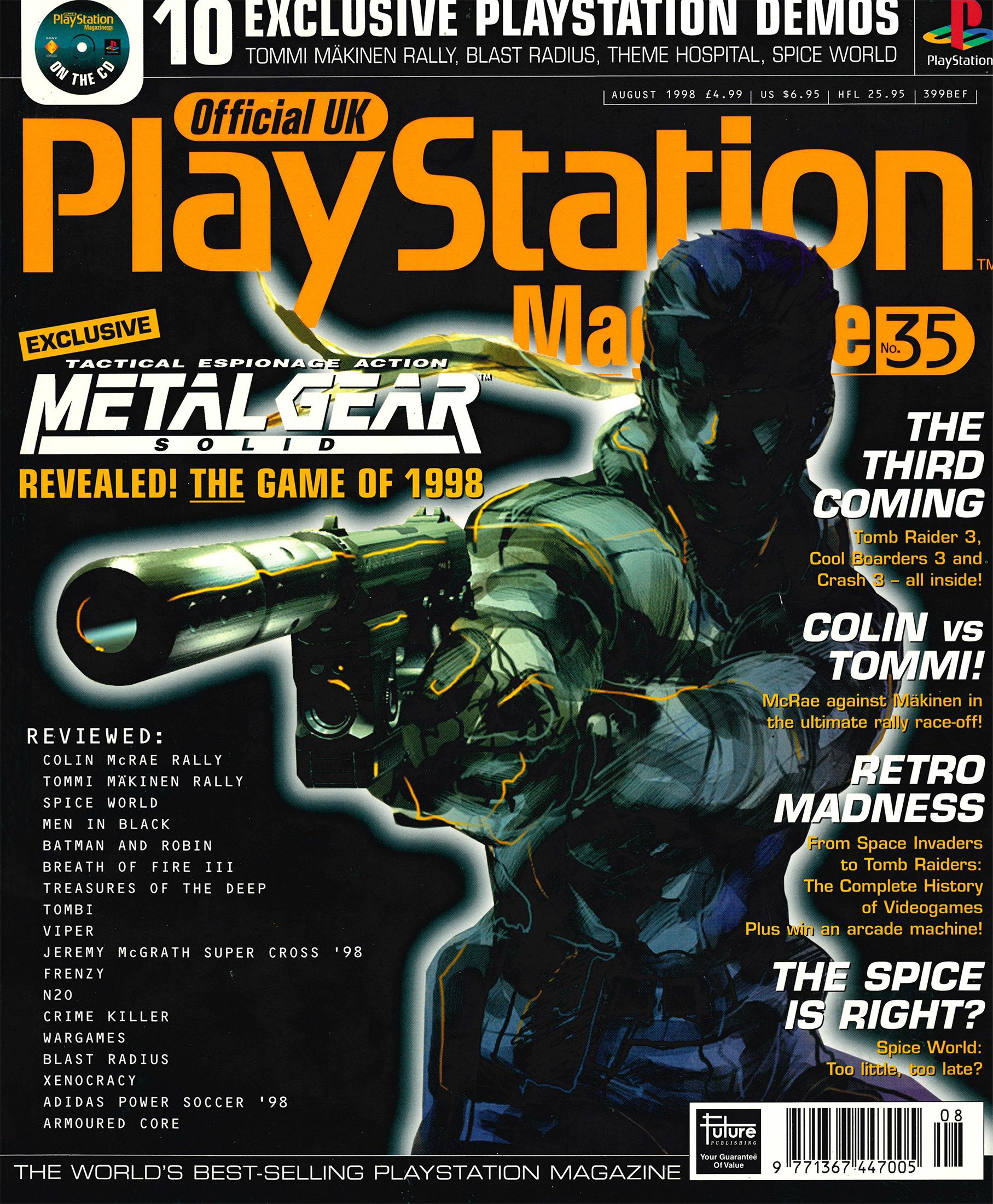 Official UK PlayStation Magazine Issue 035 (August 1998)