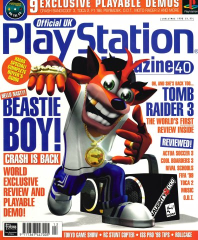 Official UK PlayStation Magazine Issue 040 (Christmas 1998)
