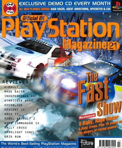Official UK PlayStation Magazine Issue 021 (July 1997)