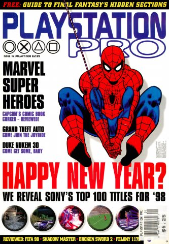 PlayStation Pro Issue 16 (January 1998)