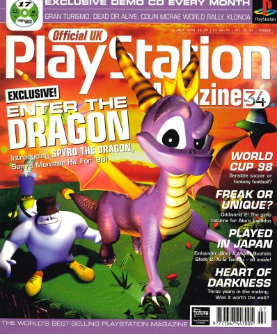 Official UK PlayStation Magazine Issue 034 (July 1998)
