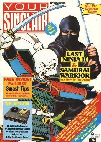 Your Sinclair Issue 33 (September 1988)