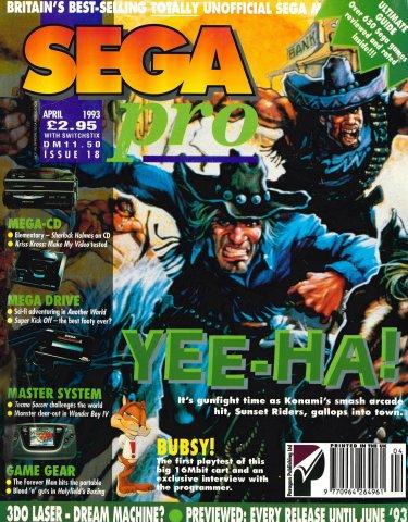 Sega Pro 18 (April 1993)