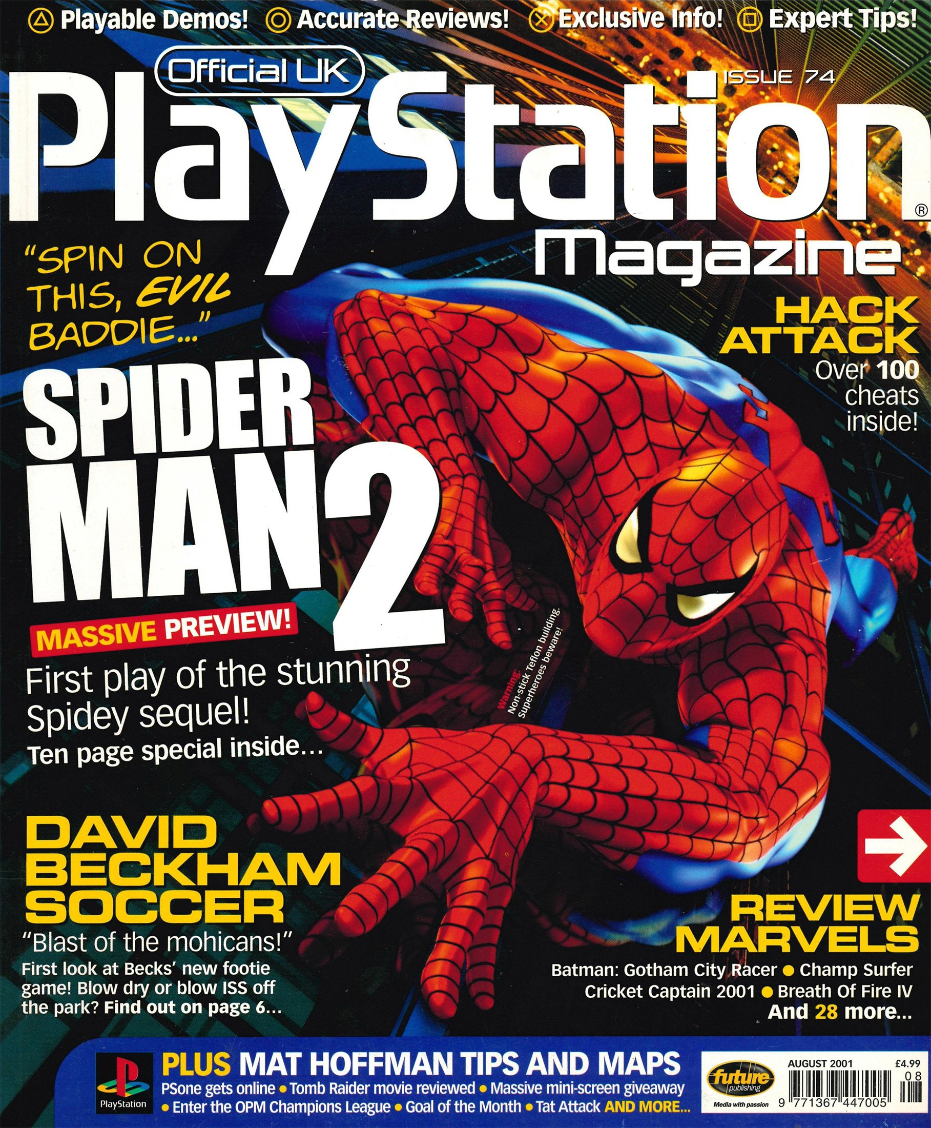 Official UK PlayStation Magazine Issue 074 (August 2001)