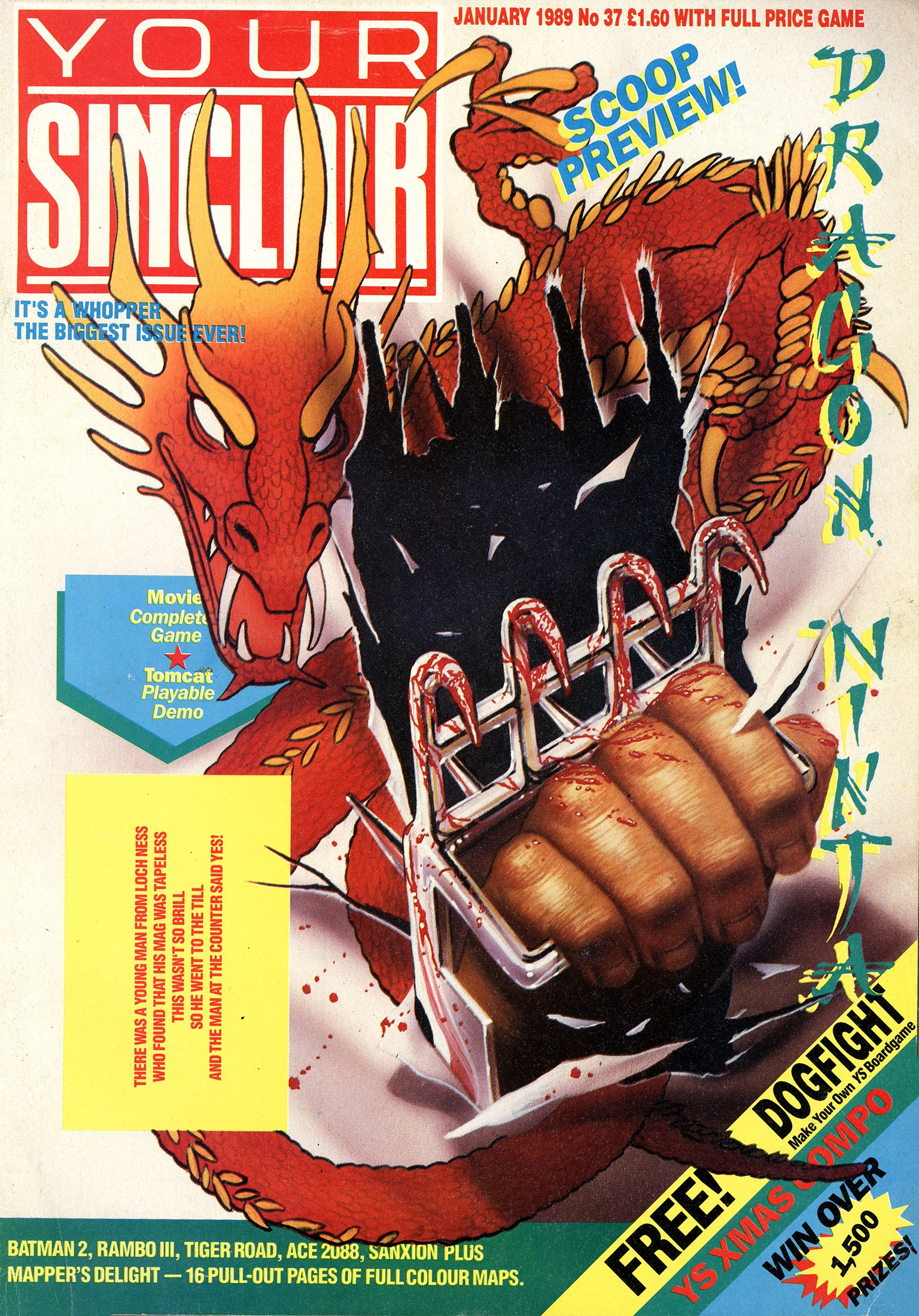 Your Sinclair Issue 37 (January 1989)