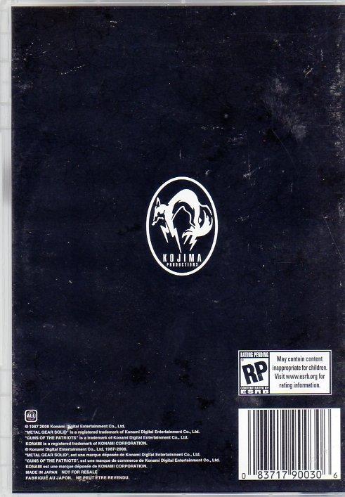 Metal Gear Saga, Vol 2 (DVD) (Rear)