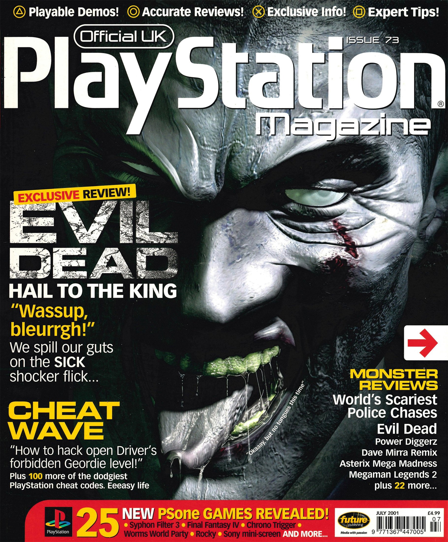 Official UK PlayStation Magazine Issue 073 (July 2001)