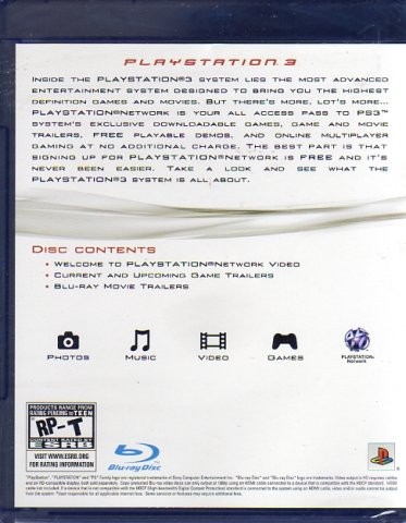 PlayStation 3 Play B3yond (Blu-Ray) (Rear)