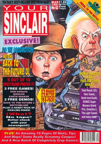 Your Sinclair Issue 63 (March 1991)