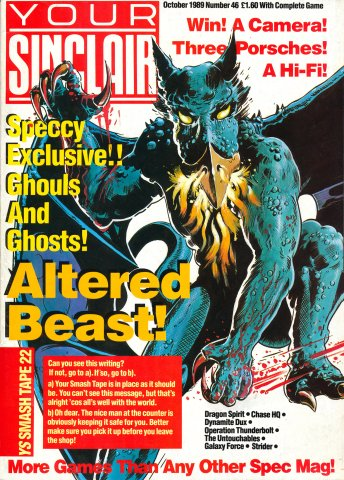 Your Sinclair Issue 46 (October 1989)