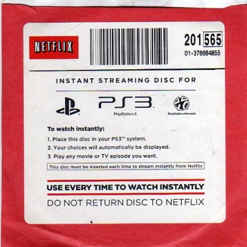 PlayStation 3 Netflix Instant Streaming Disc (Blu-Ray) (Front)