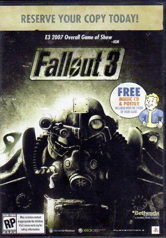 Fallout 3 Pre-Order Bonus Soundtrack + Poster (CD) (Front)