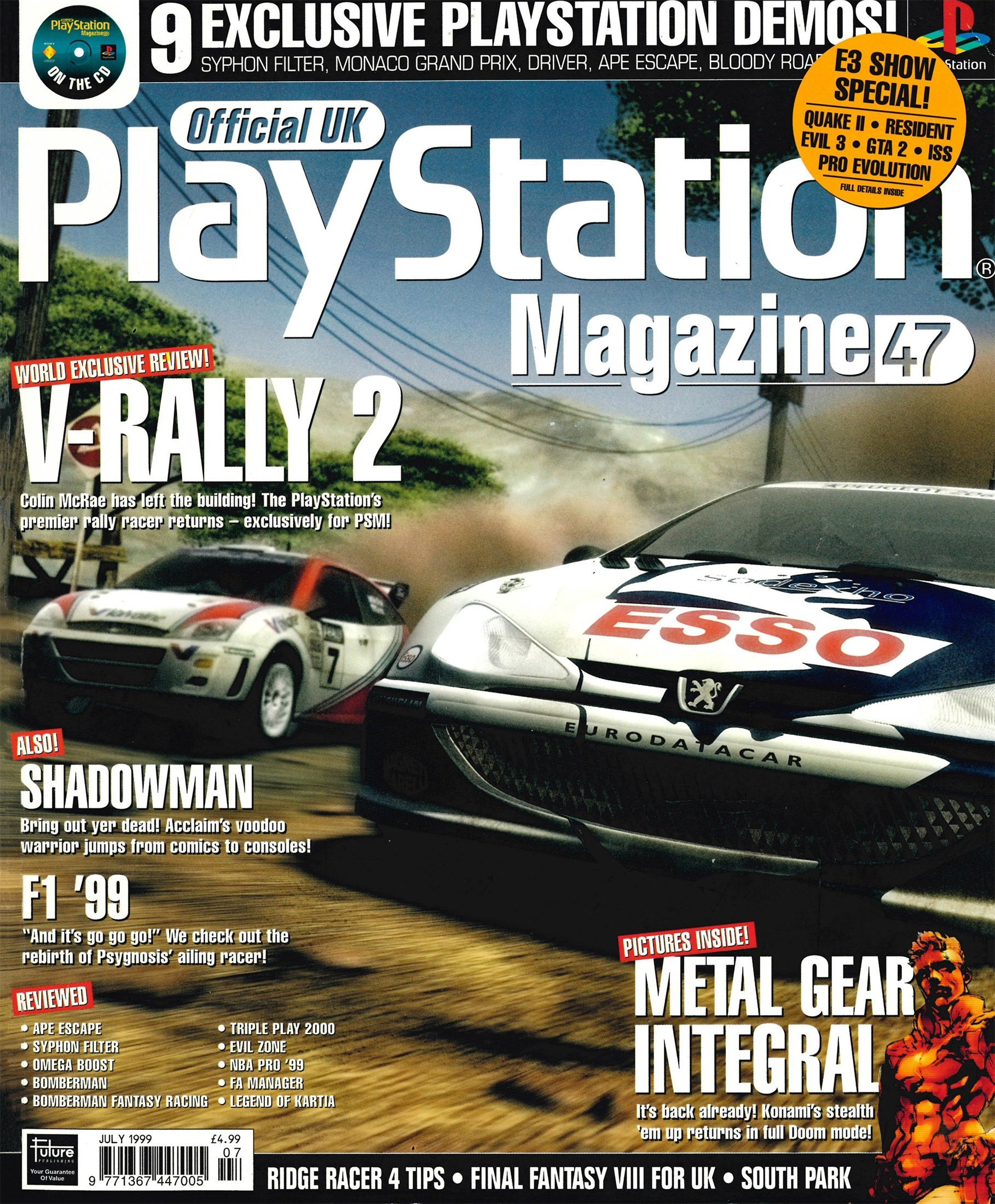 Official UK PlayStation Magazine Issue 047 (July 1999)