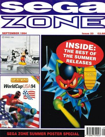 Sega Zone Issue 23 (September 1994)