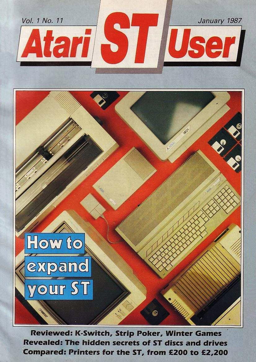 Atari ST User Issue 11 (January 1987)