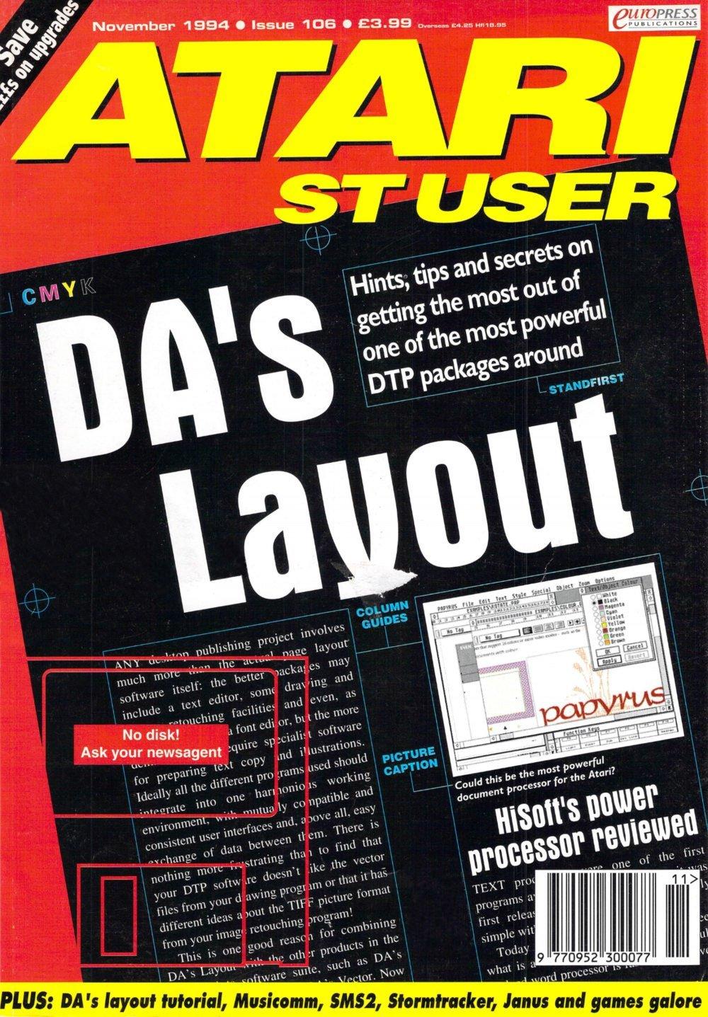 Atari ST User Issue 106 (November 1994)