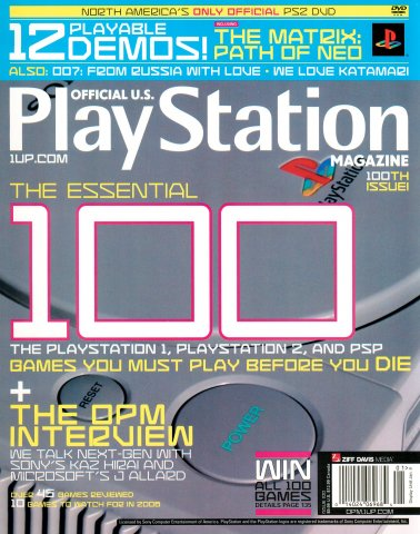 Official U.S. Playstation Magazine Issue 100 (January 2006)