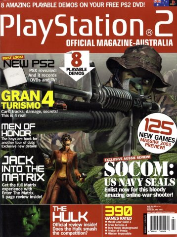 Playstation 2 Official Magazine (AUS) Issue 16 (July 2003)