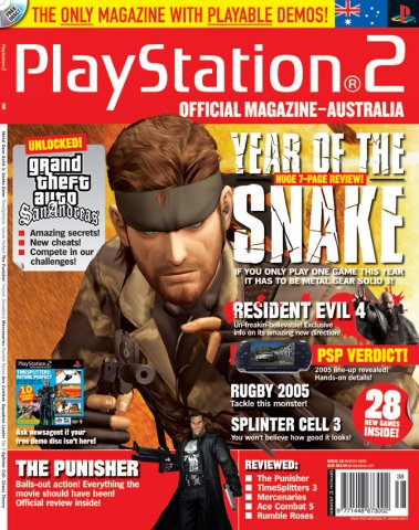 Playstation 2 Official Magazine (AUS) Issue 38 (March 2005)