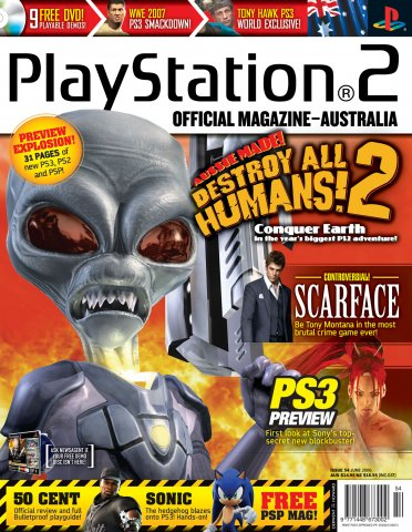 Playstation 2 Official Magazine (AUS) Issue 54 (June 2006)