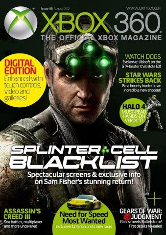 XBOX 360 The Official Magazine Issue 088 August 2012 *Digital Edition*