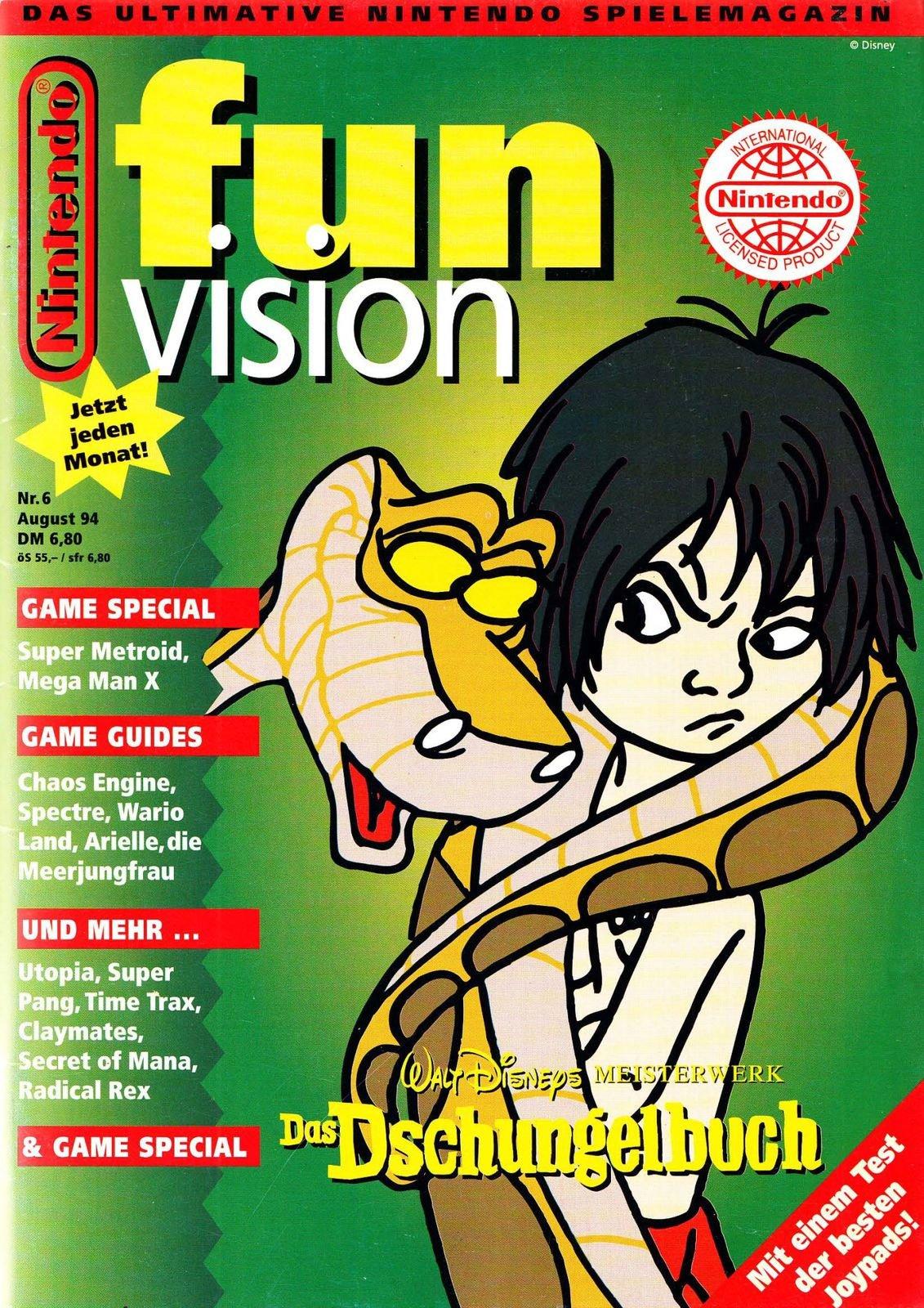 Nintendo Fun Vision Issue 06 (August 1994)