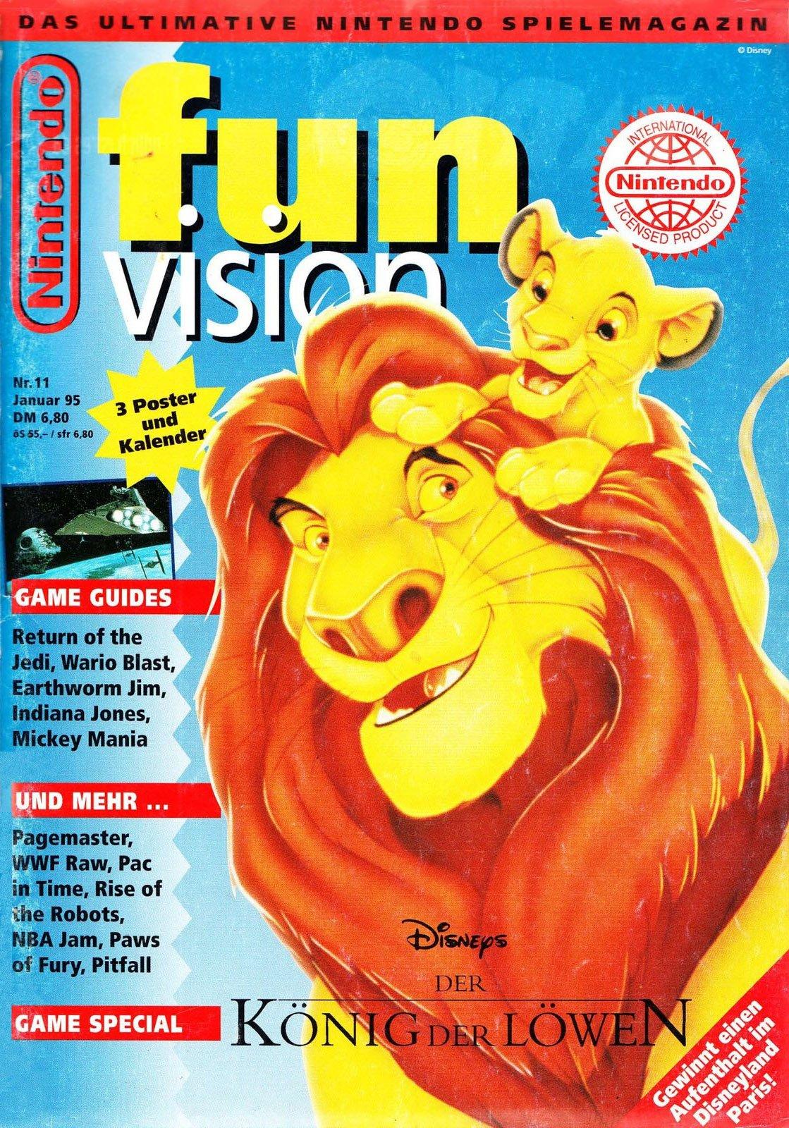 Nintendo Fun Vision Issue 11 (January 1995)