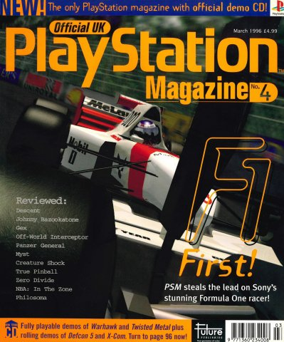 Official UK PlayStation Magazine Issue 004 (March 1996)