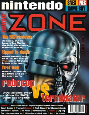 Nintendo Game Zone Issue 12 (October 1993)