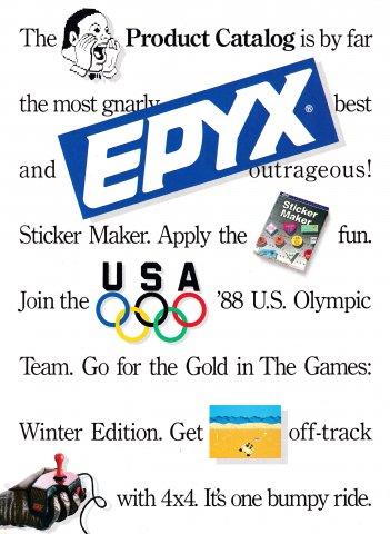 Epyx Product Catalog (1988)