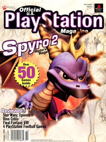 Official U.S. PlayStation Magazine Issue 025 (October 1999)