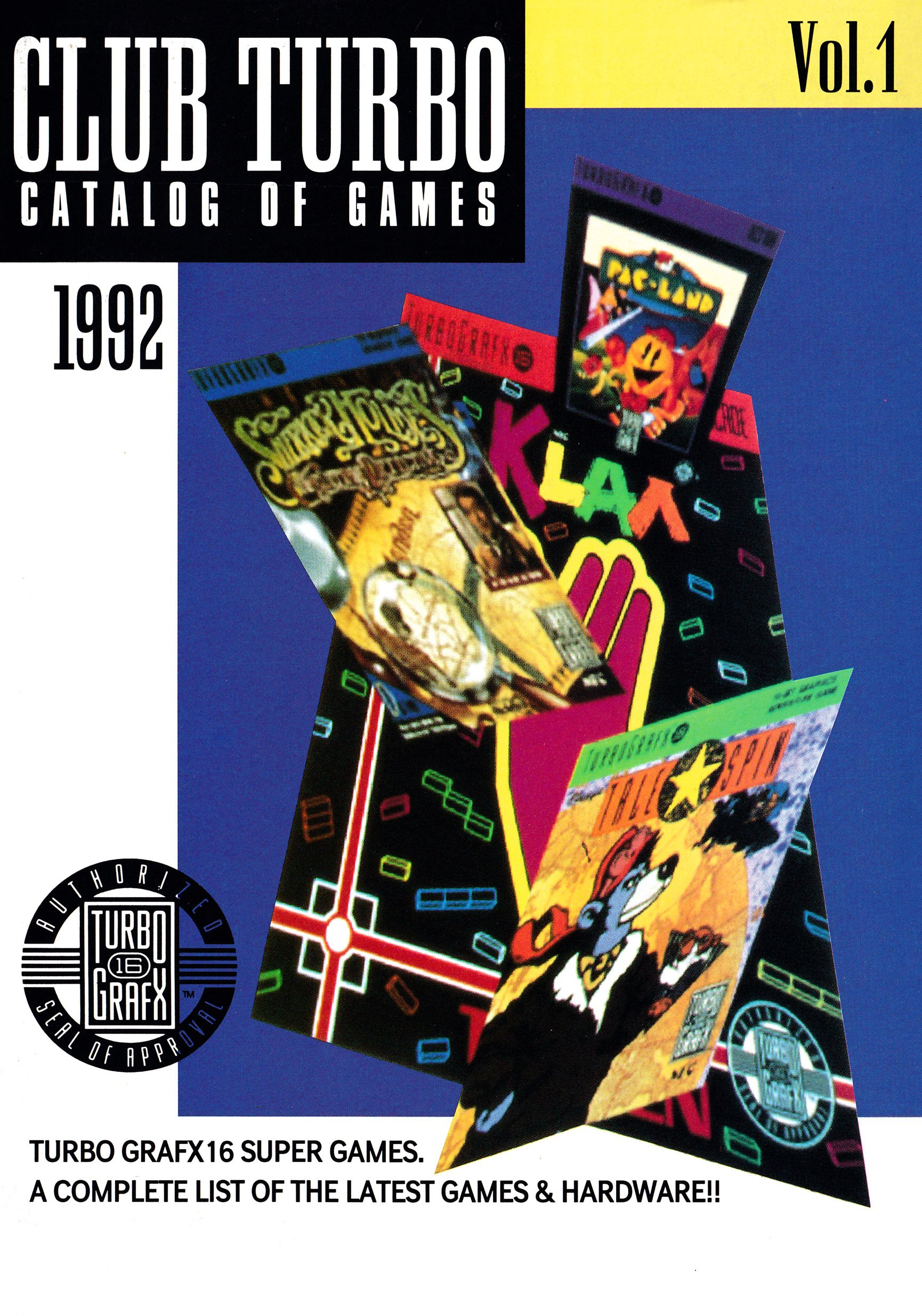 Club Turbo Catalog of Games Volume 1 (1992)