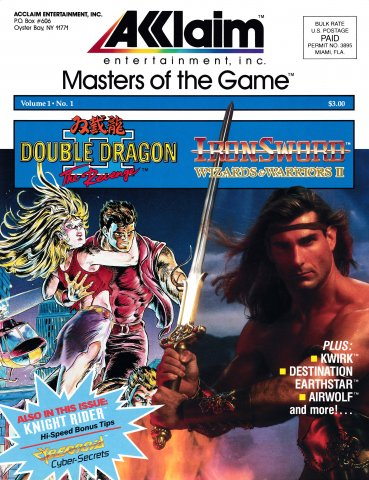 Acclaim Masters of the Game Volume 1 Number 1 (1989)