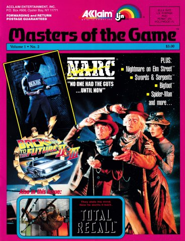 Acclaim Masters of the Game Volume 1 Number 2 (1990)
