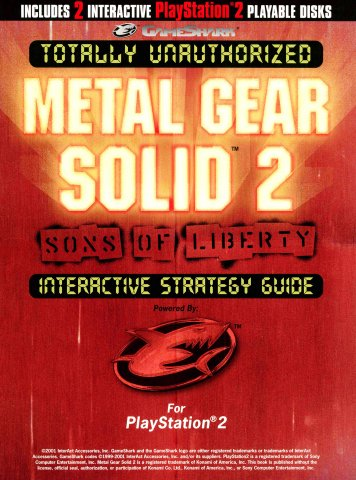 GameShark Totally Unauthorized Metal Gear Solid 2 Interactive Strategy Guide
