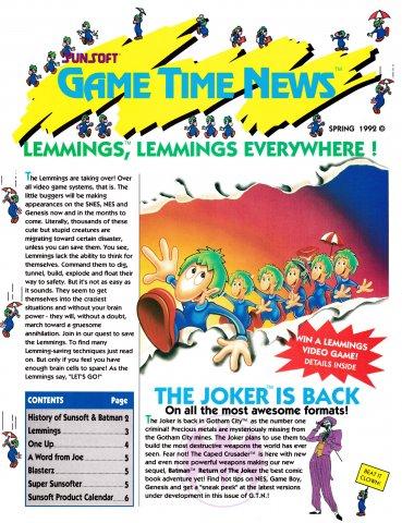 Sunsoft Game Time News