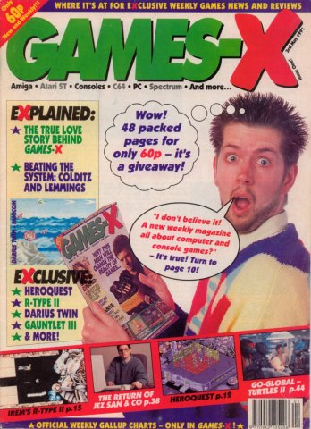 Games-X Issue 01 (May 3, 1991)