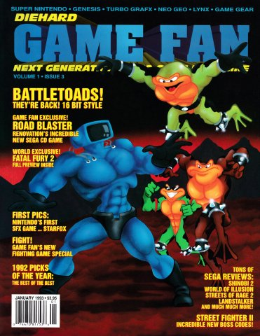 Diehard GameFan Issue 03 January 1993 (Volume 1 Issue 3)