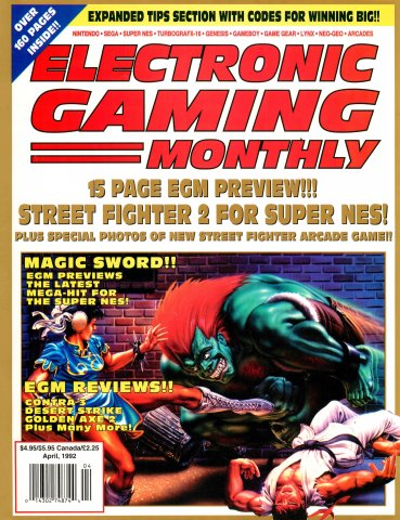 Electronic Gaming Monthly Issue 33 (April 1992)