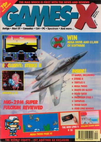 Games-X Issue 23 (September 26, 1991)