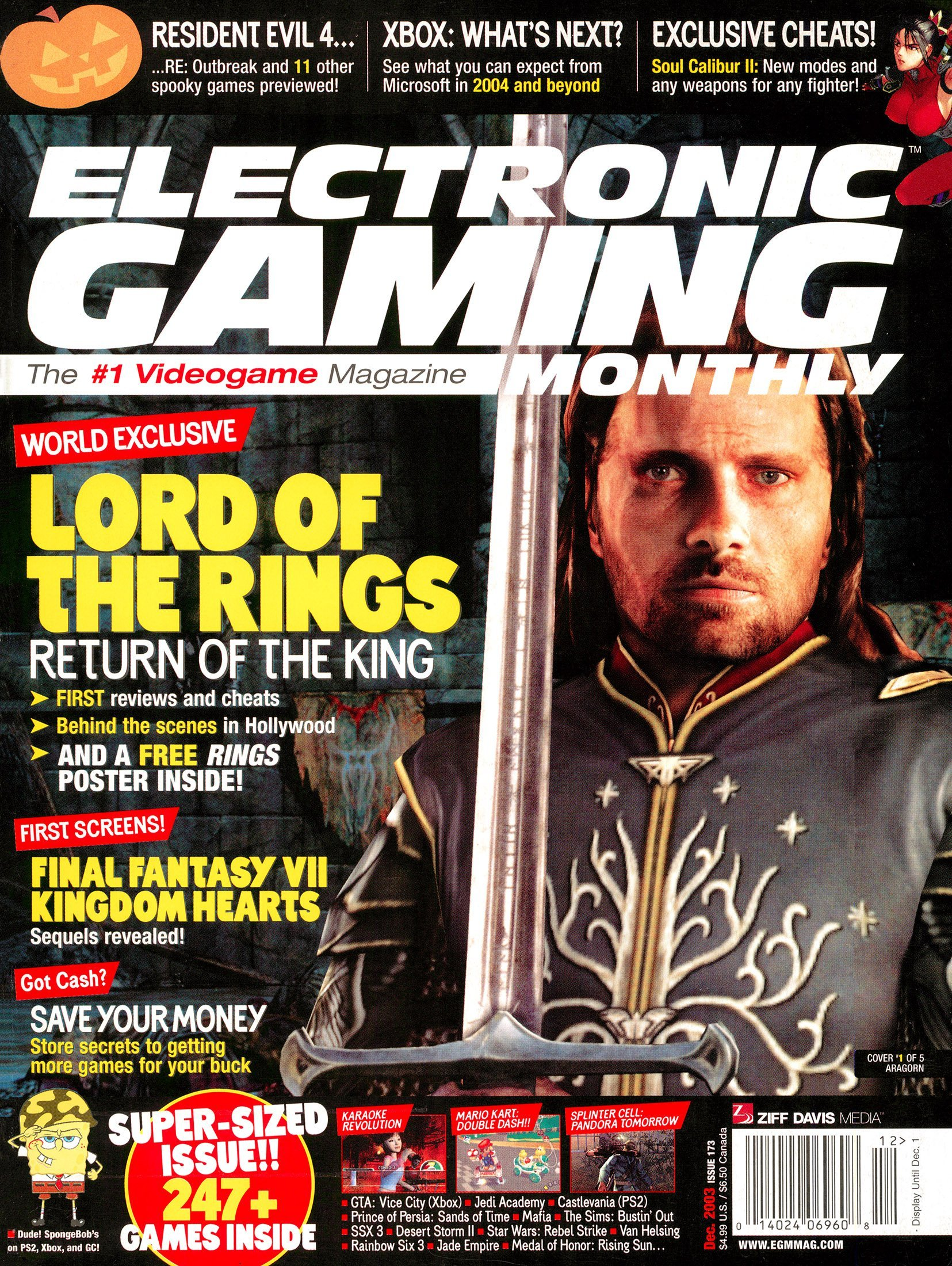 Electronic Gaming Monthly Issue 173 (December 2003) cover 1