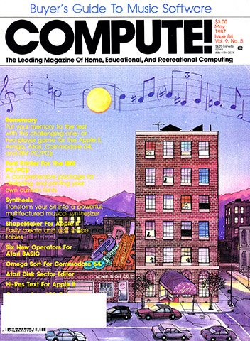 New Release - Compute! Issue 084 Vol. 9 No. 5 (May 1987)