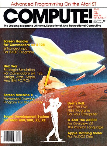 New Release - Compute! Issue 074 Vol. 8 No. 7 (July 1986)