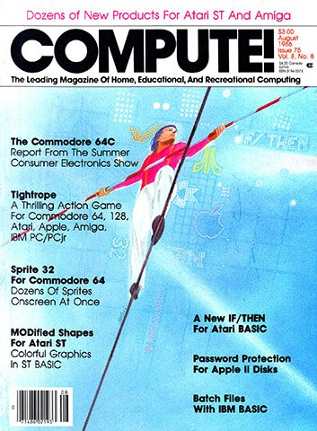 New Release - Compute! Issue 075 Vol. 8 No. 8 (August 1986)