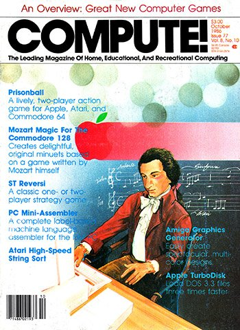 New Release - Compute! Issue 077 Vol. 8 No. 10 (October 1986)