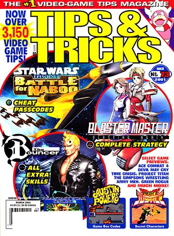 New Release - Tips & Tricks Issue 073 (March 2001)